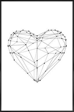 Geo Heart Framed Poster