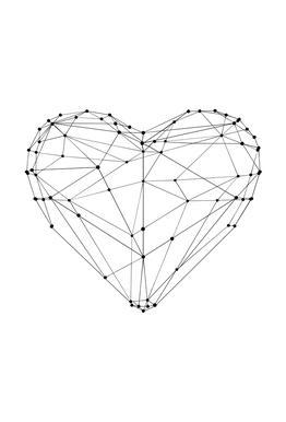 Geo Heart Akrylglastavla
