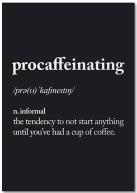 Procaffeinating -Notizblock