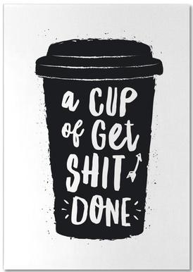 A Cup of Get Shit Done notitieblok