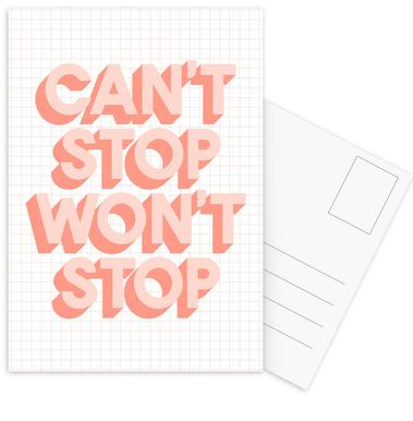 Can't Stop Won't Stop Postcard Set
