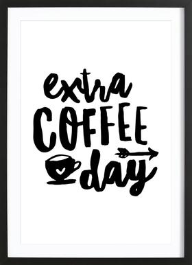Extra Coffee Day Framed Print