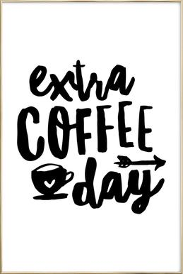 Extra Coffee Day poster in aluminium lijst