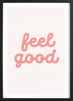 Feel Good affiche sous cadre en bois