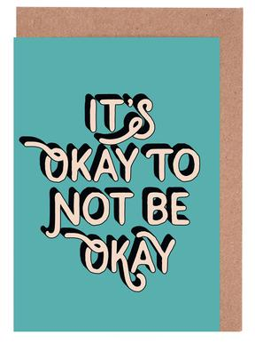 It's Okay to Not Be Okay cartes de vœux