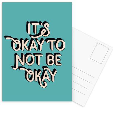 It's Okay to Not Be Okay Postcard Set