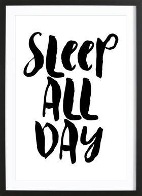 Sleep All Day Framed Print