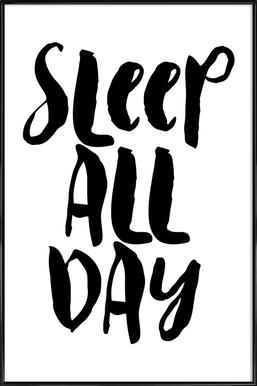 Sleep All Day ingelijste poster