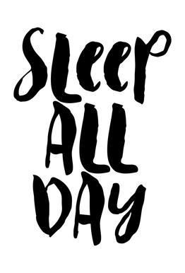 Sleep All Day tableau en verre