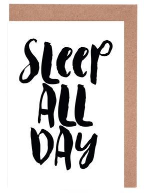 Sleep All Day Greeting Card Set