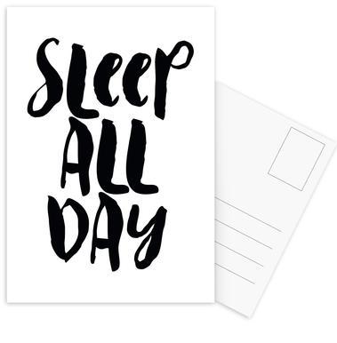 Sleep All Day Postcard Set