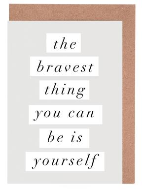 The Bravest Thing You Can Be Is Yourself Greeting Card Set