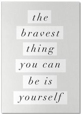 The Bravest Thing You Can Be Is Yourself notitieblok