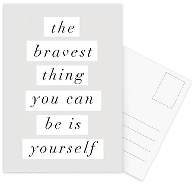 The Bravest Thing You Can Be Is Yourself Postcard Set