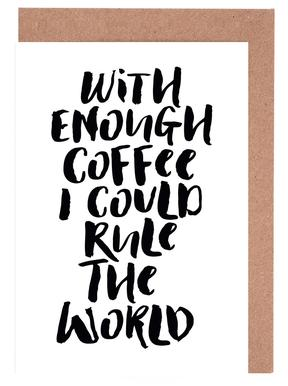 With Enough Coffee I Could Rule the World wenskaartenset