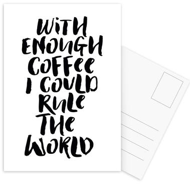 With Enough Coffee I Could Rule the World Postcard Set