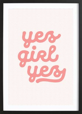 Yes Girl Yes Framed Print