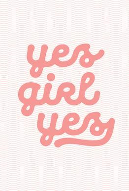 Yes Girl Yes Aluminium Print