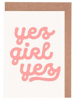 Yes Girl Yes Greeting Card Set