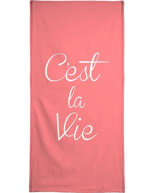 C'est La Vie Bath Towel