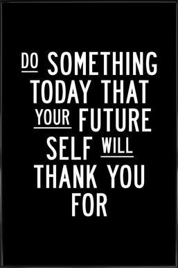 Do Something Today ingelijste poster