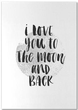 I Love You To The Moon And Back Notepad