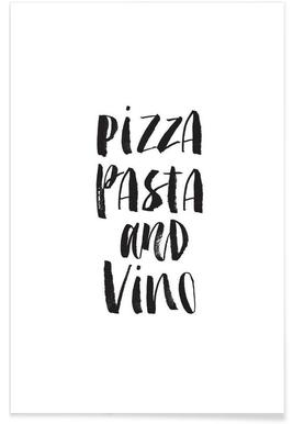 Pizza Pasta And Vino - Premium poster