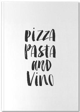 Pizza Pasta And Vino Notebook