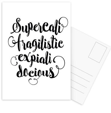 Supercalifragilisticexpialidocious Postcard Set