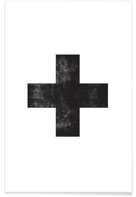 Swiss Cross White - Premium Poster
