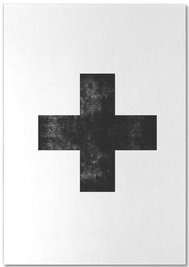 Swiss Cross White -Notizblock