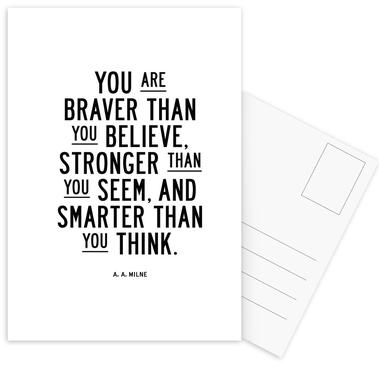 You Are Braver Than You Believe -Postkartenset
