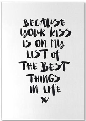 Because Your Kiss Is On My List bloc-notes