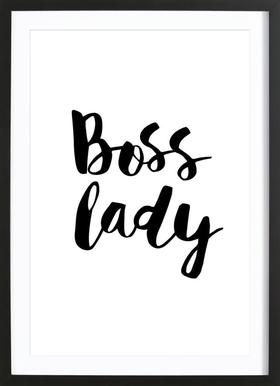 Boss Lady - Poster in Wooden Frame