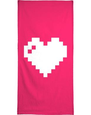 Digi Heart Bath Towel
