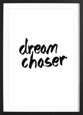 Dream Chaser - Poster in Wooden Frame