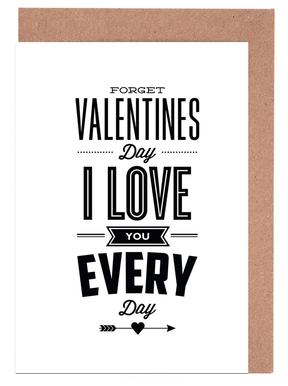 Forget Valentines Day Greeting Card Set