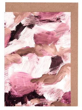 Abstract Painting VI Coffee and Rose Greeting Card Set