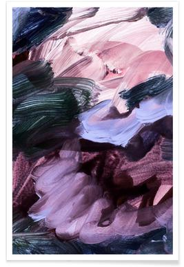 Abstract Pink and Purple Poster