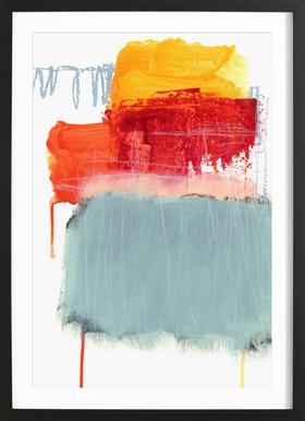 Layered Color 2 ingelijste print