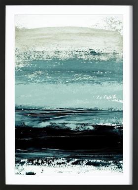 Minimalist Landscape 4 affiche sous cadre en bois