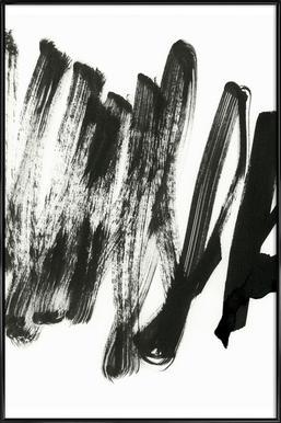 Black On White - Poster im Kunststoffrahmen