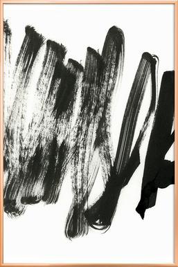 Black On White Poster in Aluminium Frame