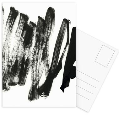 Black On White Postcard Set