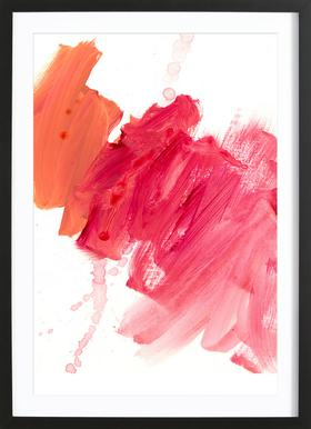 Brush Strokes - Poster in Wooden Frame