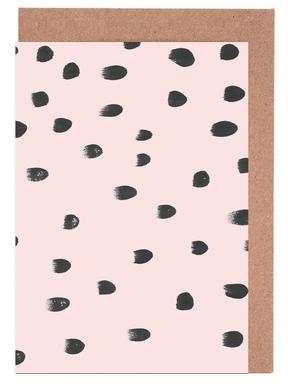 Dots On Pink Greeting Card Set