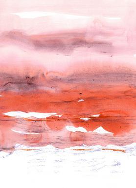Pink and Modern Orange canvas doek