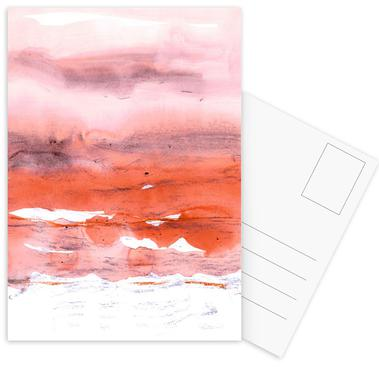 Pink and Modern Orange -Postkartenset