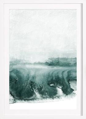 Rainy Day - Poster in Wooden Frame