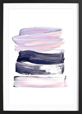 Summer Pastels - Poster in Wooden Frame
